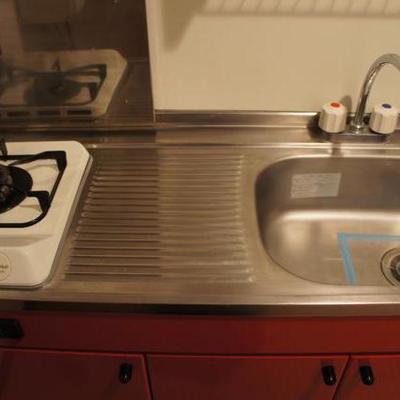 キッチンはガス1口