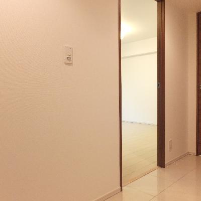 玄関に戻って。。右のドアが洗面所に