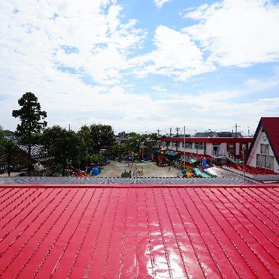 眺望も気持ち良い!!目の前は幼稚園です。