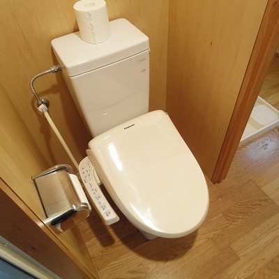 トイレ兼脱衣スペース少しコンパクトかな。。※写真は前回募集時のものです