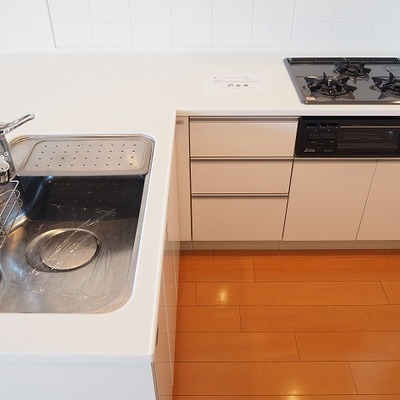 キッチンはL字!二人で料理したいな♪