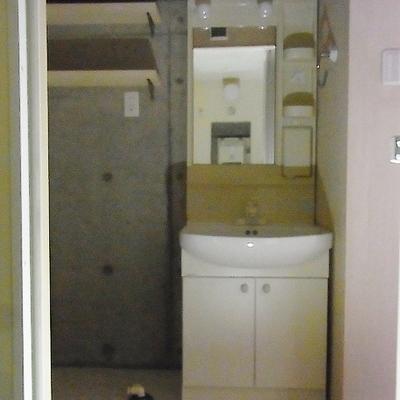 洗面台は少し小さいかも