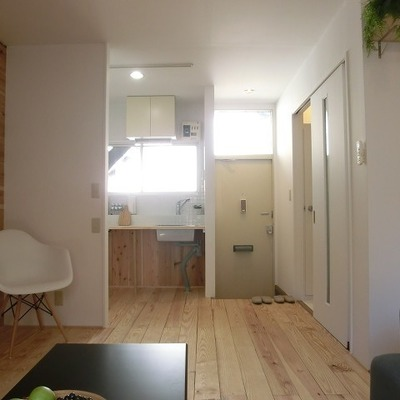 お部屋側から ※写真は1階の同間取り別部屋のものです