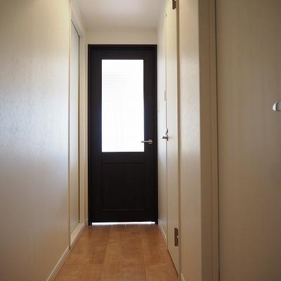 玄関からのながめです。