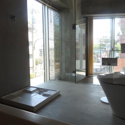 お風呂からの景色はこんな感じ! ※写真は別部屋です