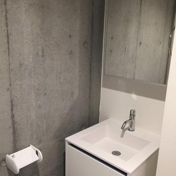 トイレの前に、洗面台。