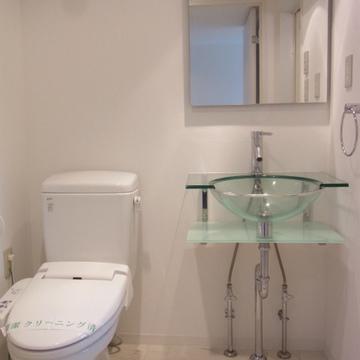 爽やかな洗面スペース