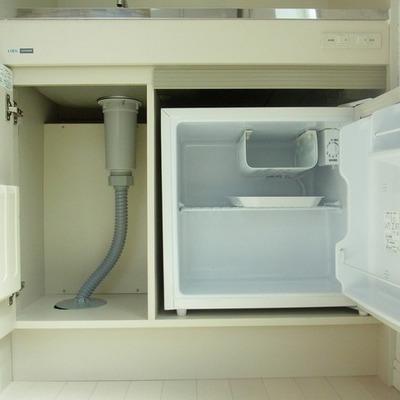 冷蔵庫はちょっと小さい・・・