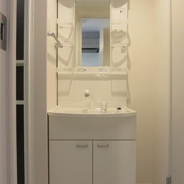 独立洗面台だってご覧の通り。