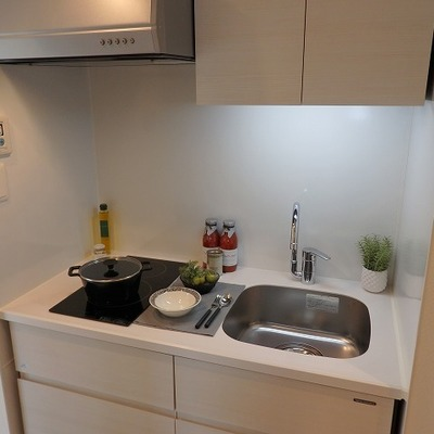 キッチンは小さめですが2口IH