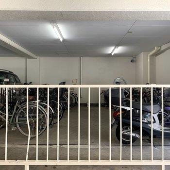 駐輪スペースは屋根付き