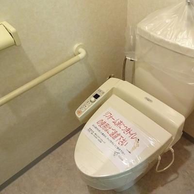 トイレはウォシュレットつき
