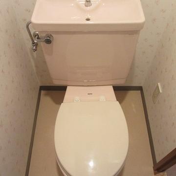 トイレの壁がフローラル