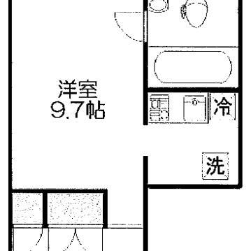 白で開放感のあるお部屋、床は無垢です