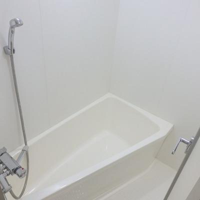 全体的には浴槽2つぶんくらいの広さで、少し狭い!