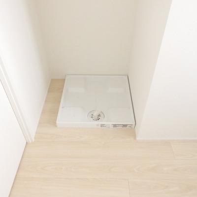 洗面台はお風呂の目の前につく予定。※写真は別部屋