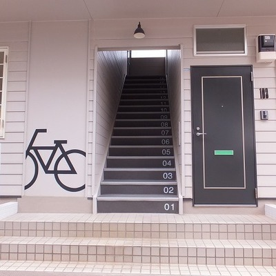 目をひく自転車マーク
