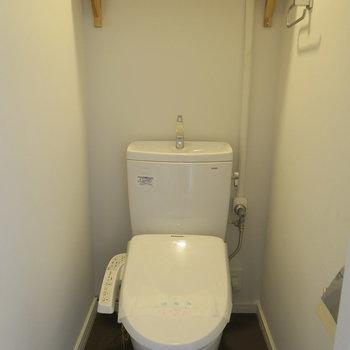 トイレは個室で木の棚も可愛いなぁ。※写真は前回募集時のものです