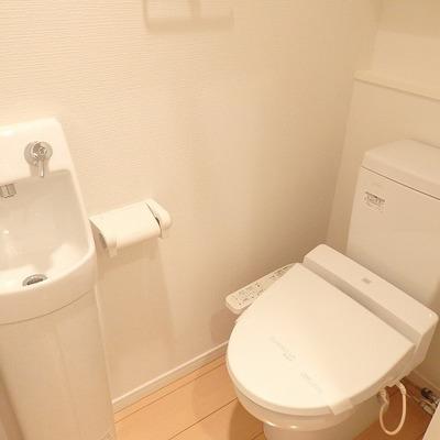 手を洗うスペースは別のところに。