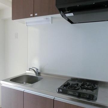 キッチンは2口ガスコンロです。 ※写真は別部屋です