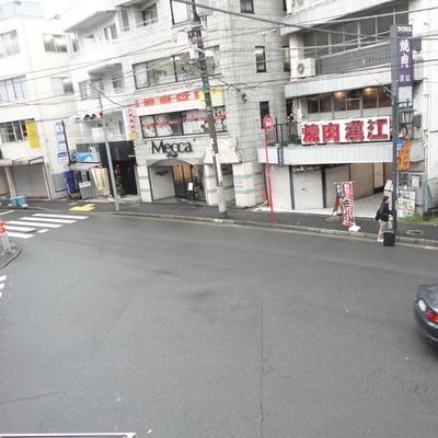 交差点が見えます。