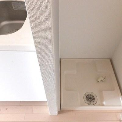 廊下に洗濯機置き場あり!