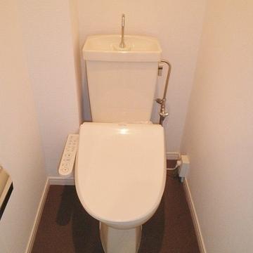 【イメージ】トイレはウォシュレット付きです。
