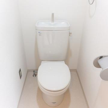トイレはウォシュレット付いてないのです。