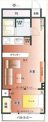 渋谷の真ん中に住むということ。 の間取り
