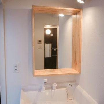 木枠の可愛い洗面台※イメージ