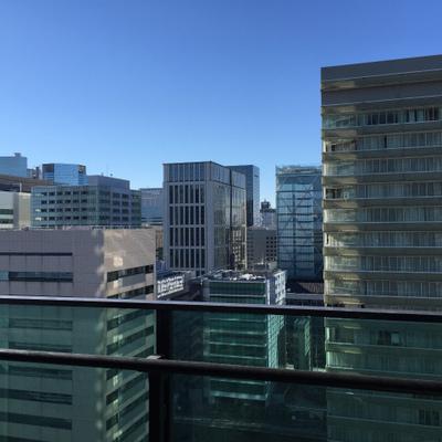 眺望はこちら。都会・・・!