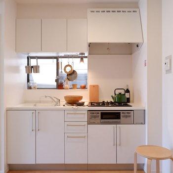 キッチンは収納量もバッチリなシステムキッチン!