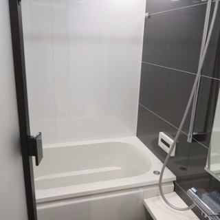 大きなお風呂には浴室乾燥、追炊き付