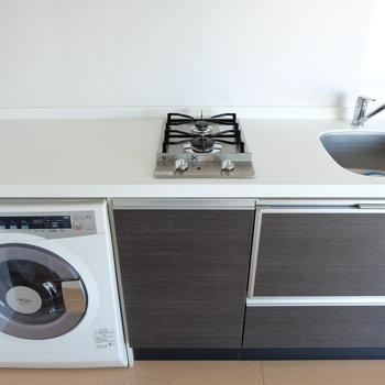 洗濯機がついてます!