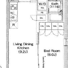 ベッドルームと分けられるお部屋です