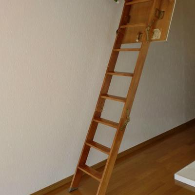 2階へ行くにはハシゴ使います