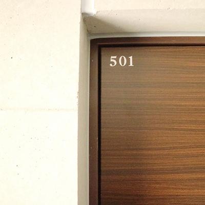 ルームナンバーの印字もおしゃれ※掲載写真は前回掲載時のものです。