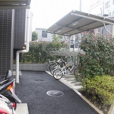 駐輪場もあり