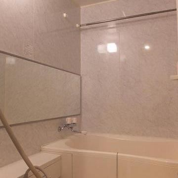 お風呂は大きくてゆったり浸かれそう。