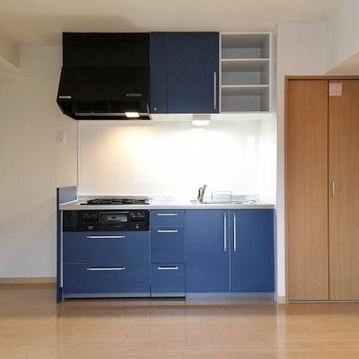 冷蔵庫も大型が設置できます。