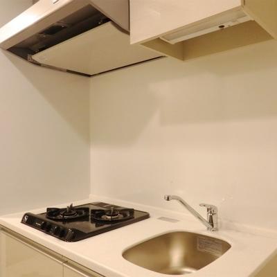 キッチンも2コンロありながらコンパクト