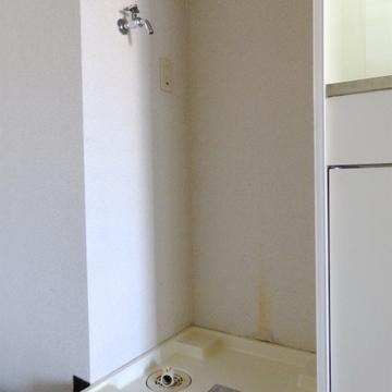 洗濯機は室内に置けます。