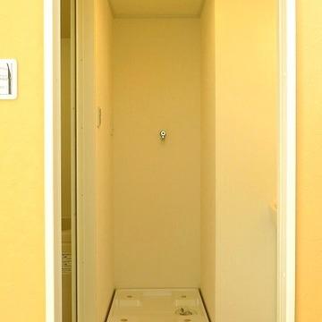 脱衣室には洗濯機が設置できます