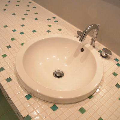 洗面台も可愛らしい