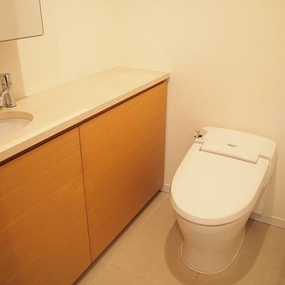 トイレもホテルみたいですね!