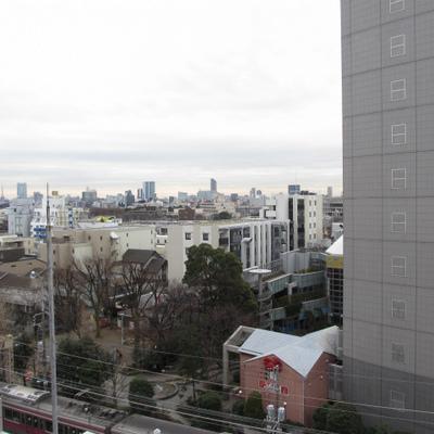 眺望はなかなか。都会だ〜