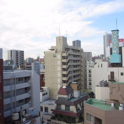 都会だ。と思わせるような眺望