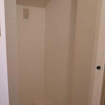 隠せるタイプの洗濯機置場※写真は前回募集時のものです