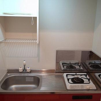赤のキッチン!!!好き!!※写真は前回募集時のものです