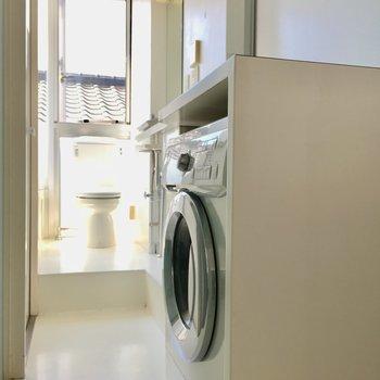 洗濯機付きは嬉しい。